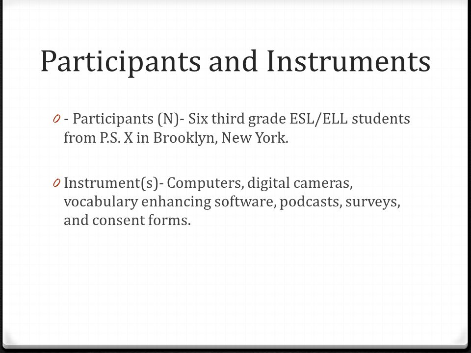 Participants and Instruments