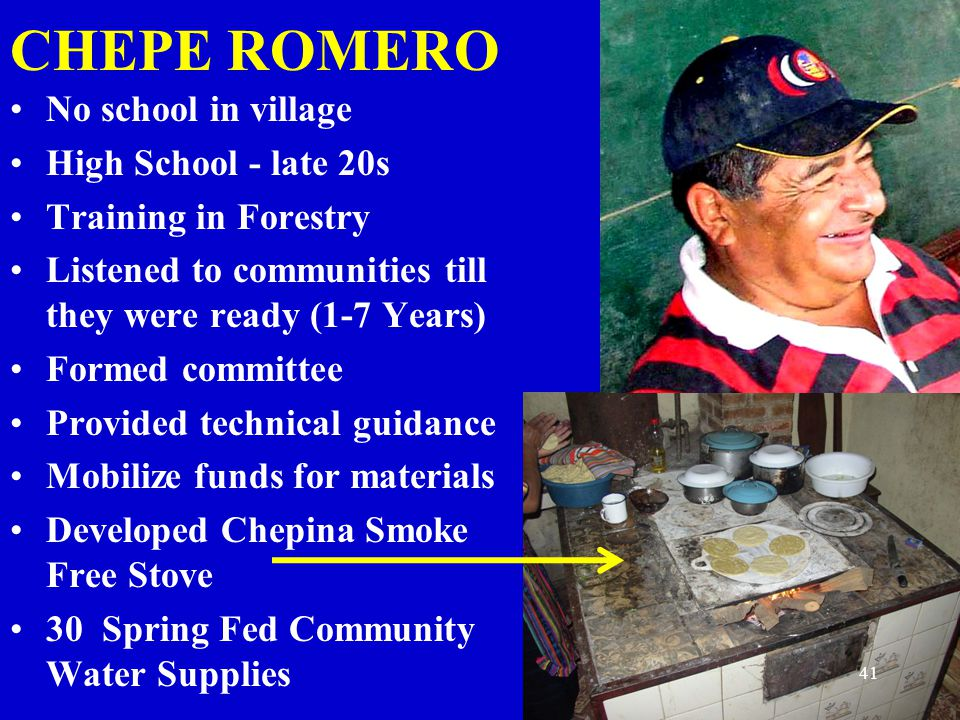 CHEPE ROMERO No school in village High School - late 20s