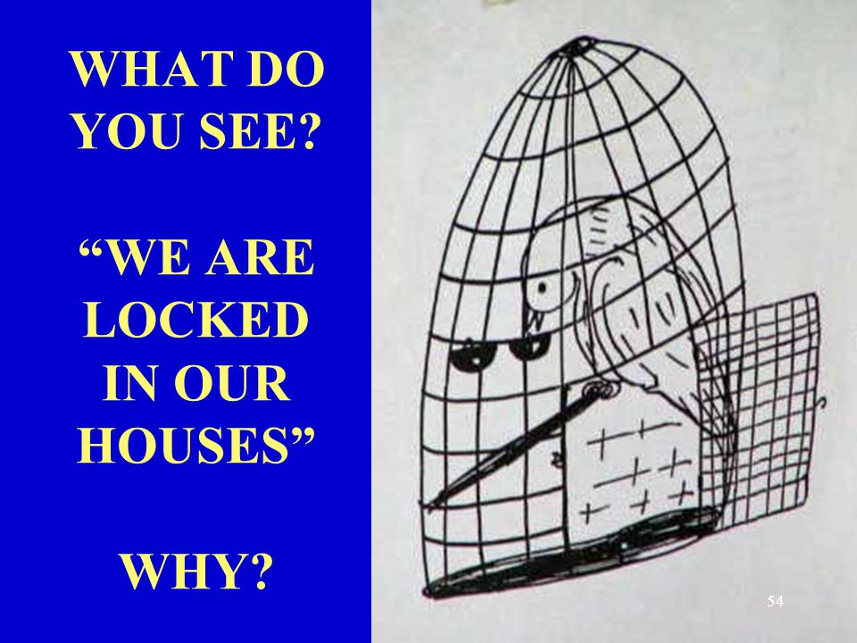 WHAT DO YOU SEE WE ARE LOCKED IN OUR HOUSES WHY