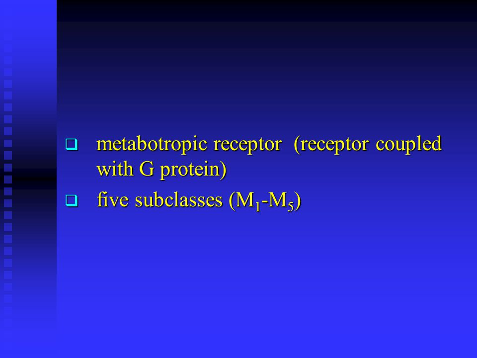 metabotropic receptor (receptor coupled with G protein)