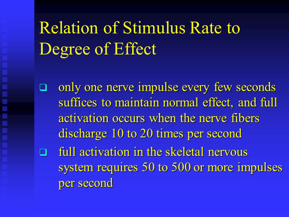Relation of Stimulus Rate to Degree of Effect