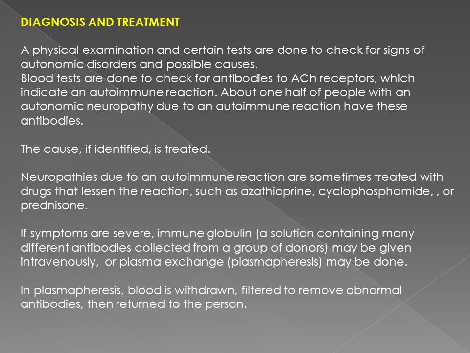 Diagnosis and Treatment