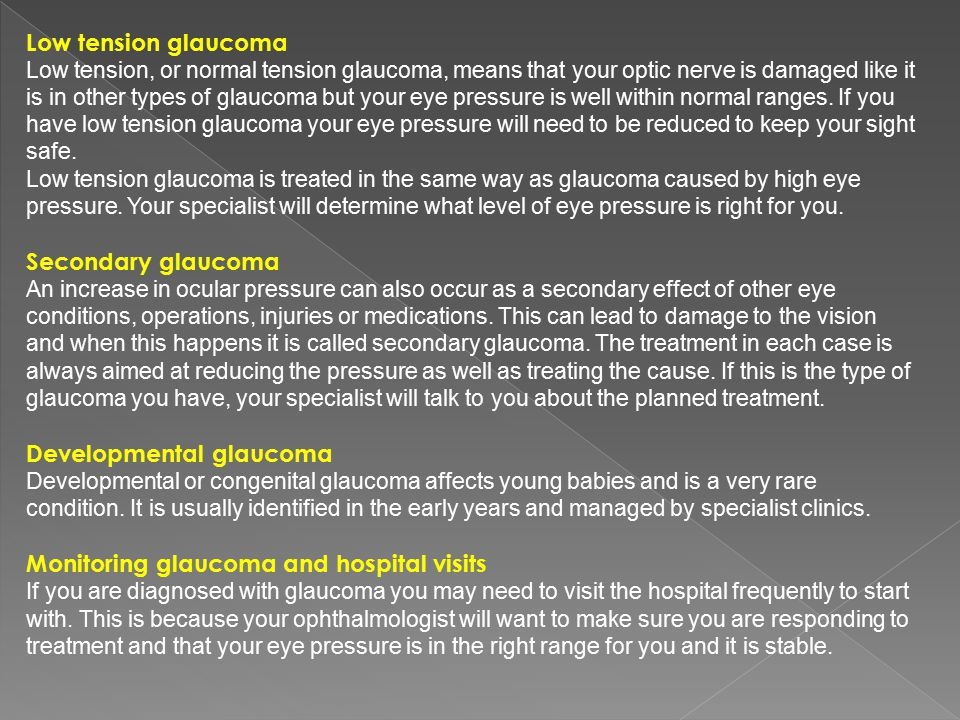 Developmental glaucoma