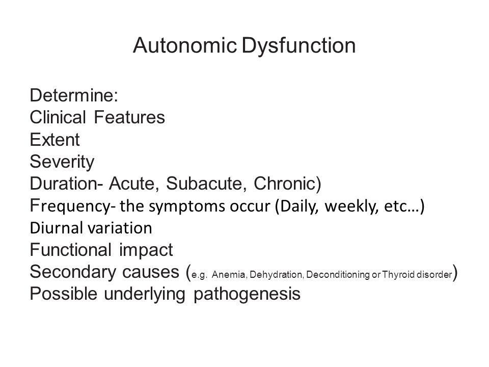 Autonomic Dysfunction
