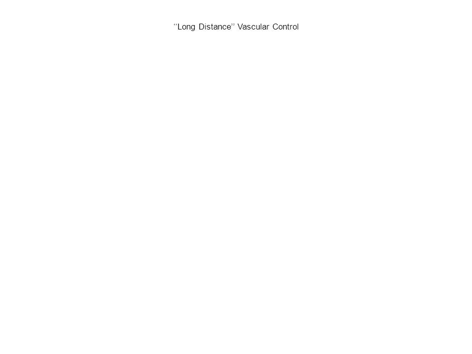 ''Long Distance'' Vascular Control