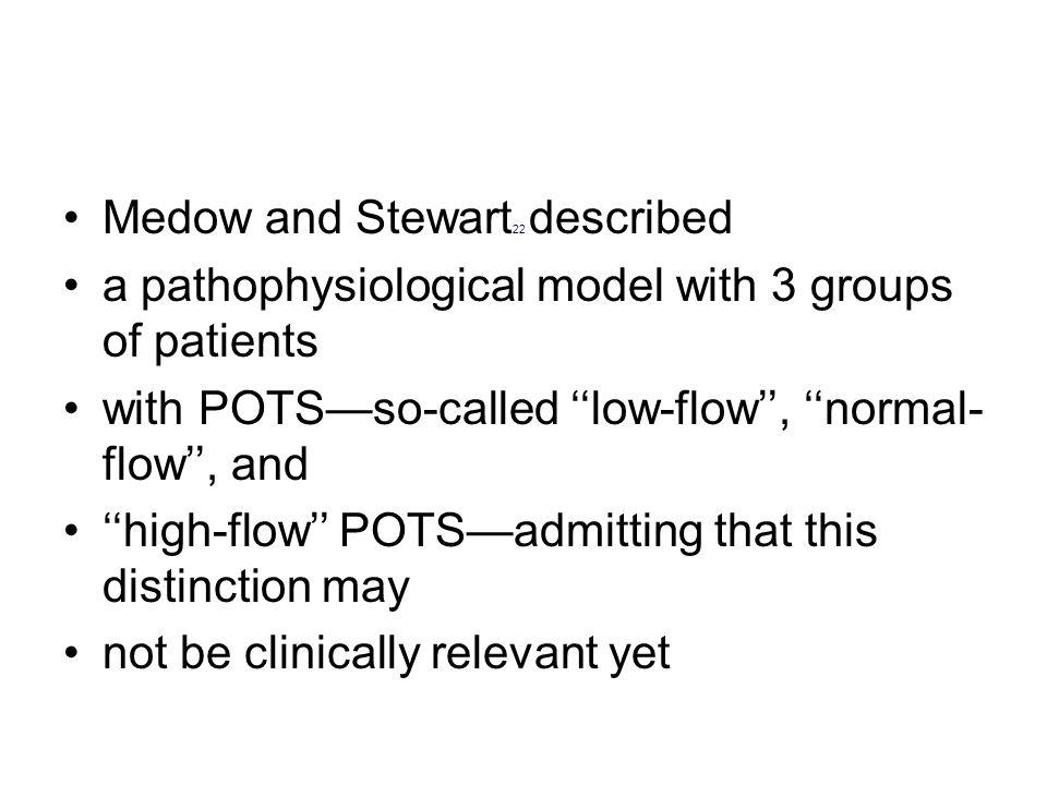 Medow and Stewart22 described