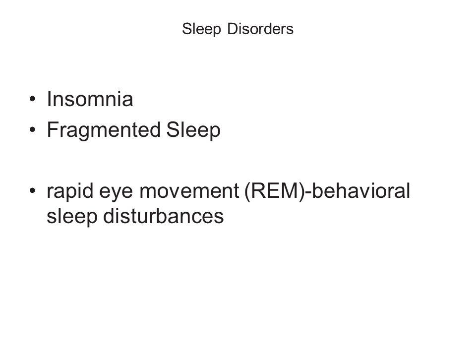 rapid eye movement (REM)-behavioral sleep disturbances