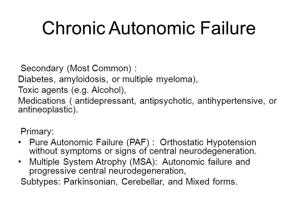 Chronic Autonomic Failure