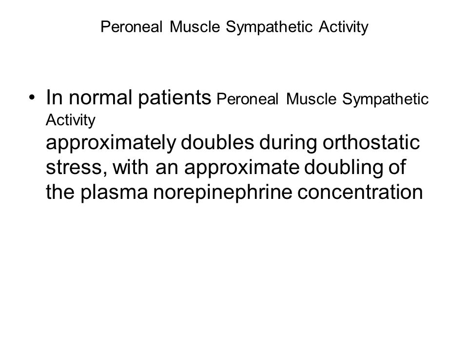 Peroneal Muscle Sympathetic Activity