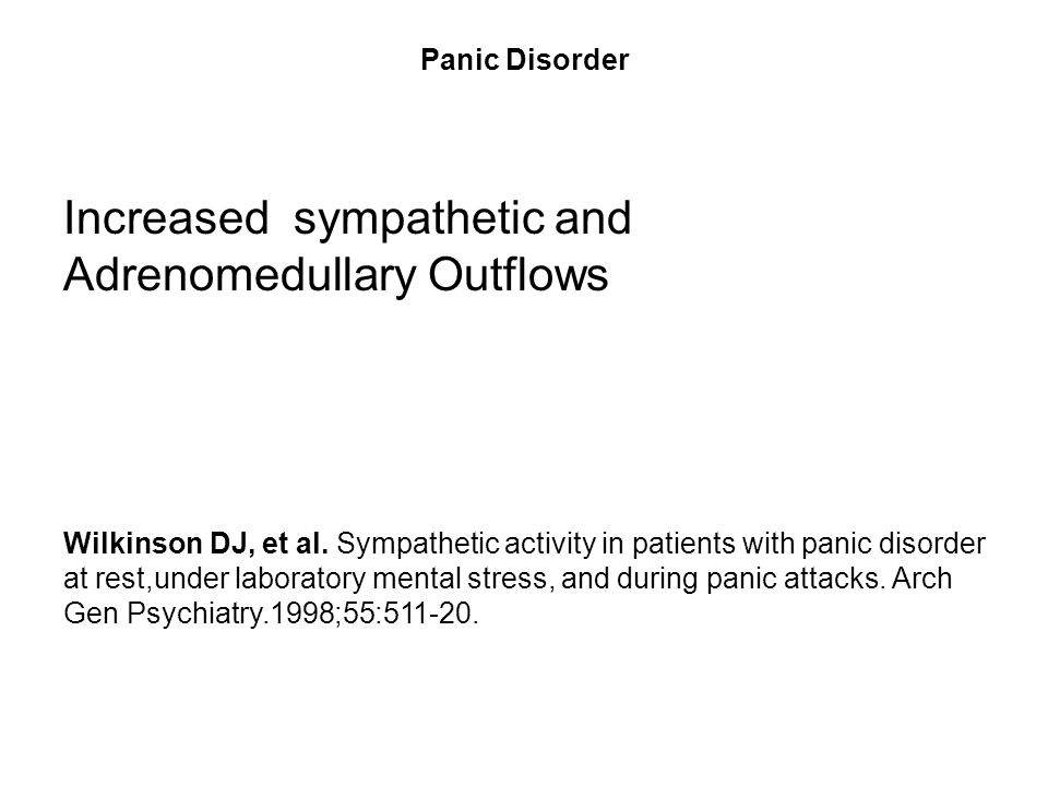 Increased sympathetic and Adrenomedullary Outflows