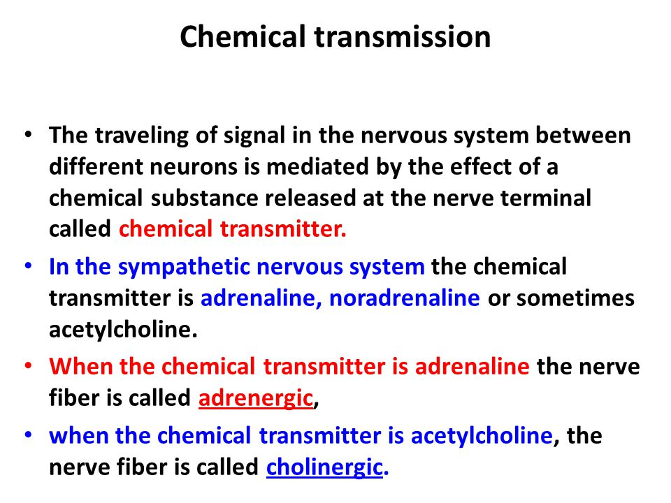 Chemical transmission
