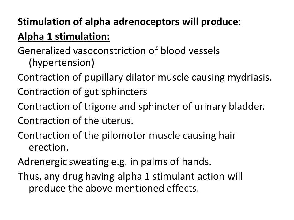 Stimulation of alpha adrenoceptors will produce: