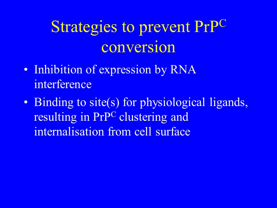 Strategies to prevent PrPC conversion