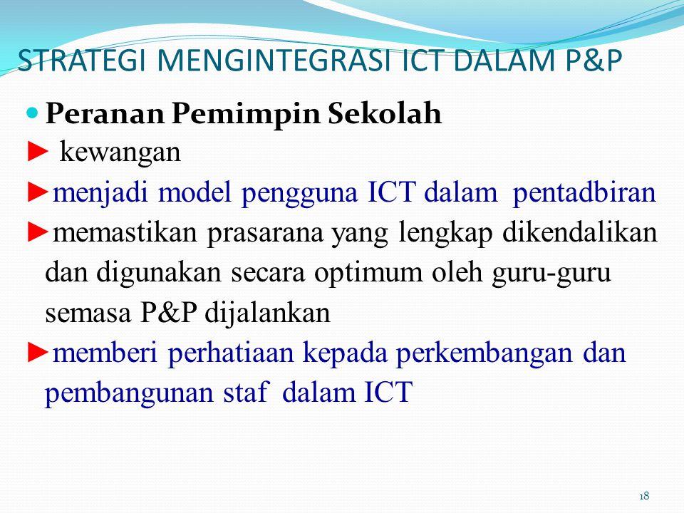 STRATEGI MENGINTEGRASI ICT DALAM P&P