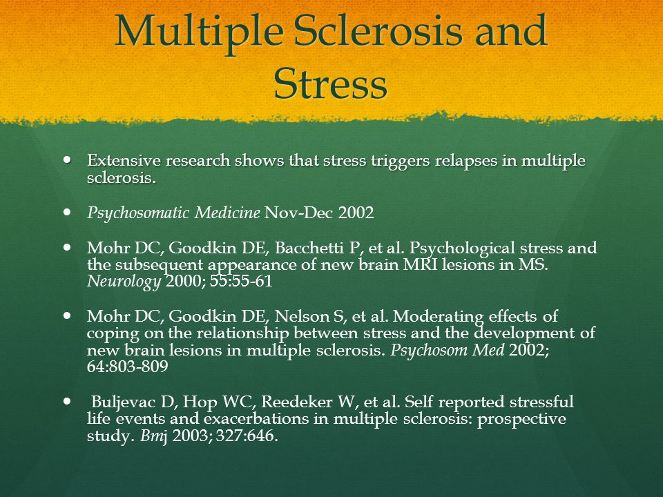 Multiple Sclerosis and Stress