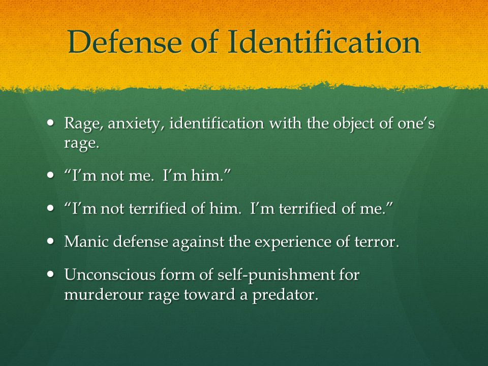 Defense of Identification