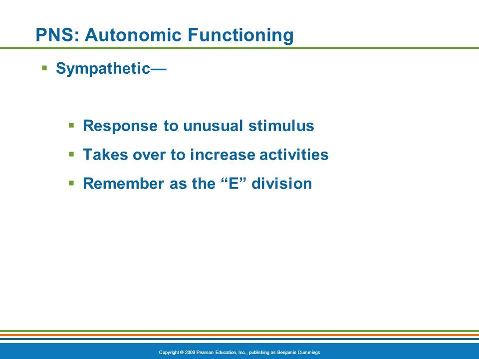PNS: Autonomic Functioning
