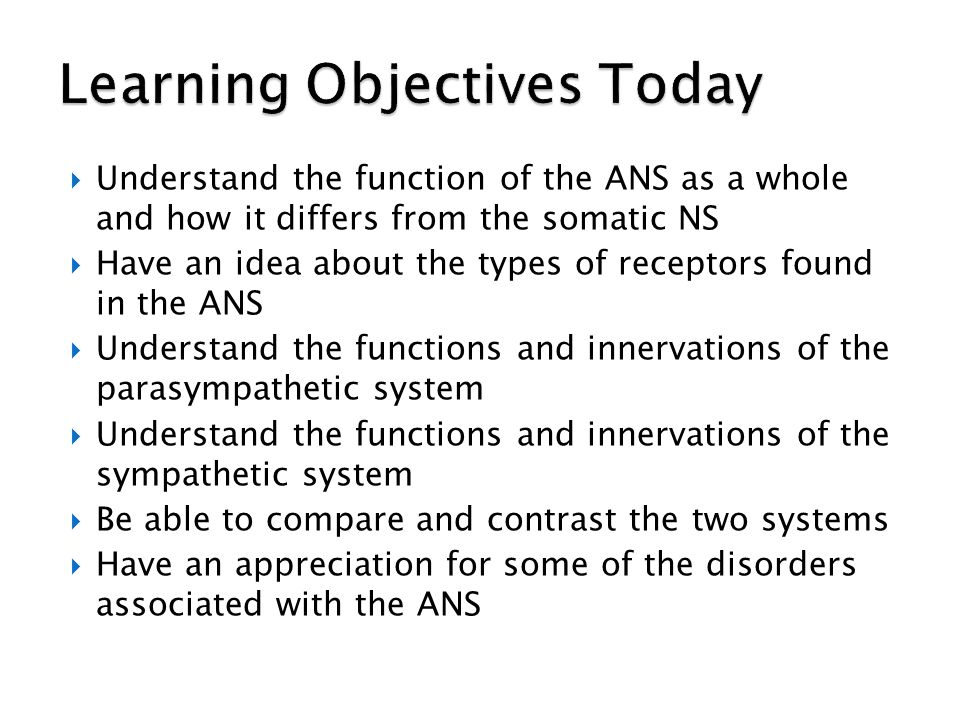 Learning Objectives Today