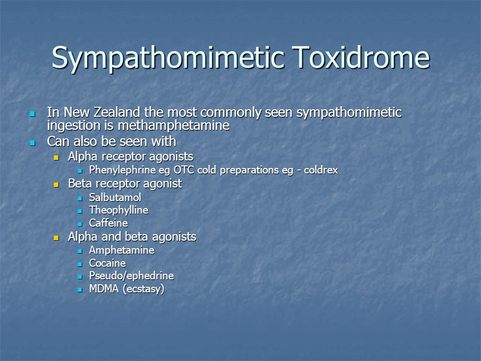 Sympathomimetic Toxidrome