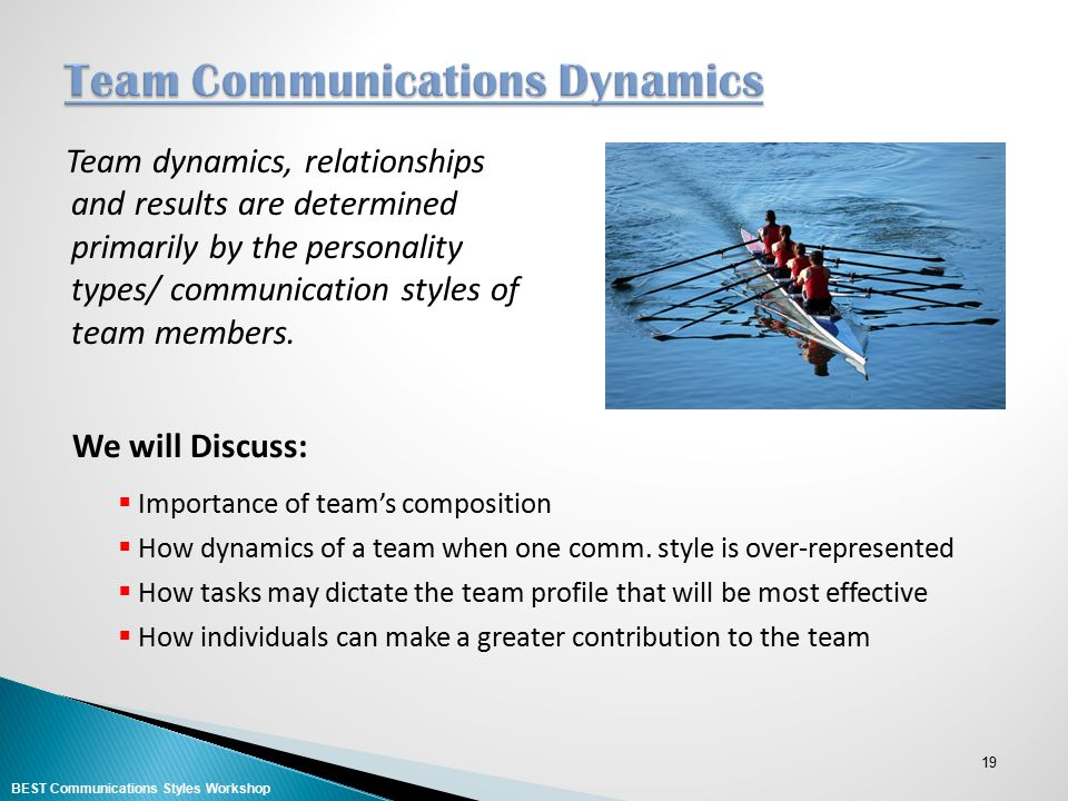 Team Communications Dynamics