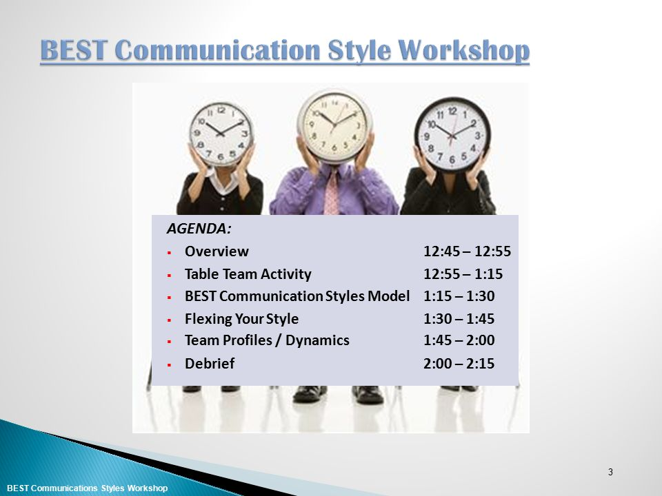 BEST Communication Style Workshop