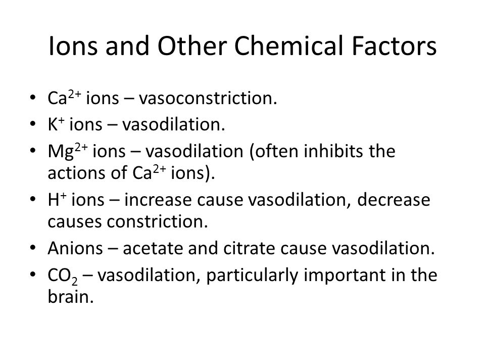 Ions and Other Chemical Factors