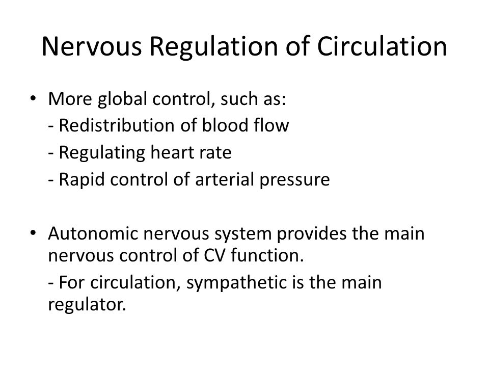 Nervous Regulation of Circulation
