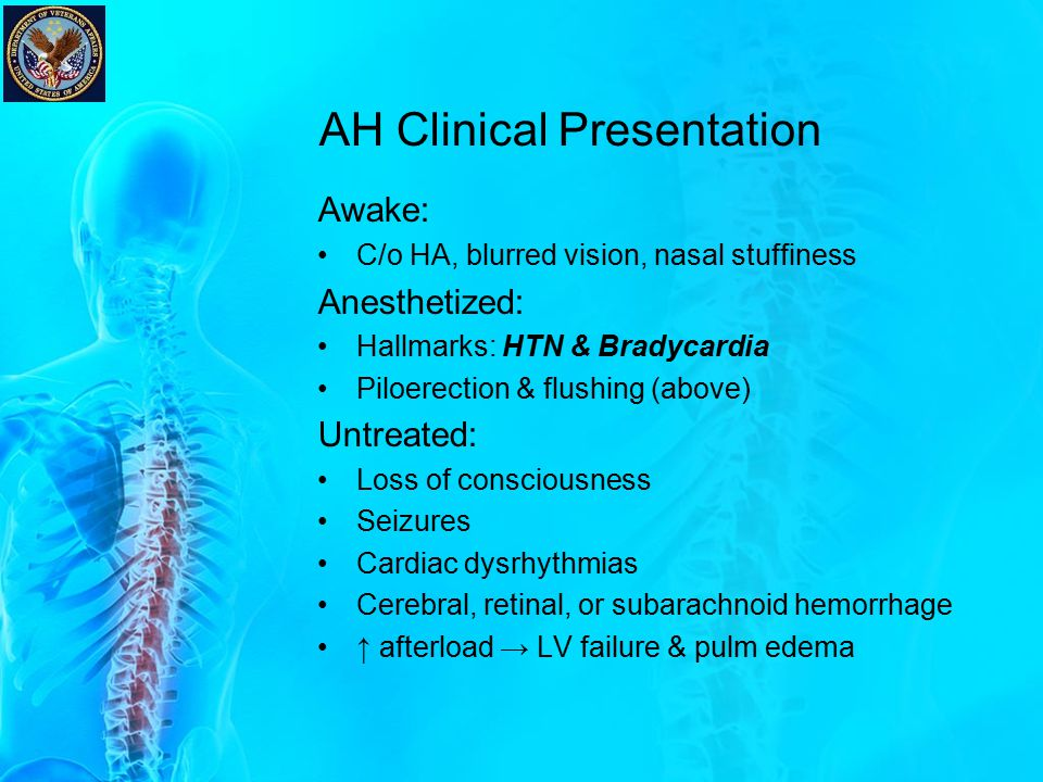 AH Clinical Presentation