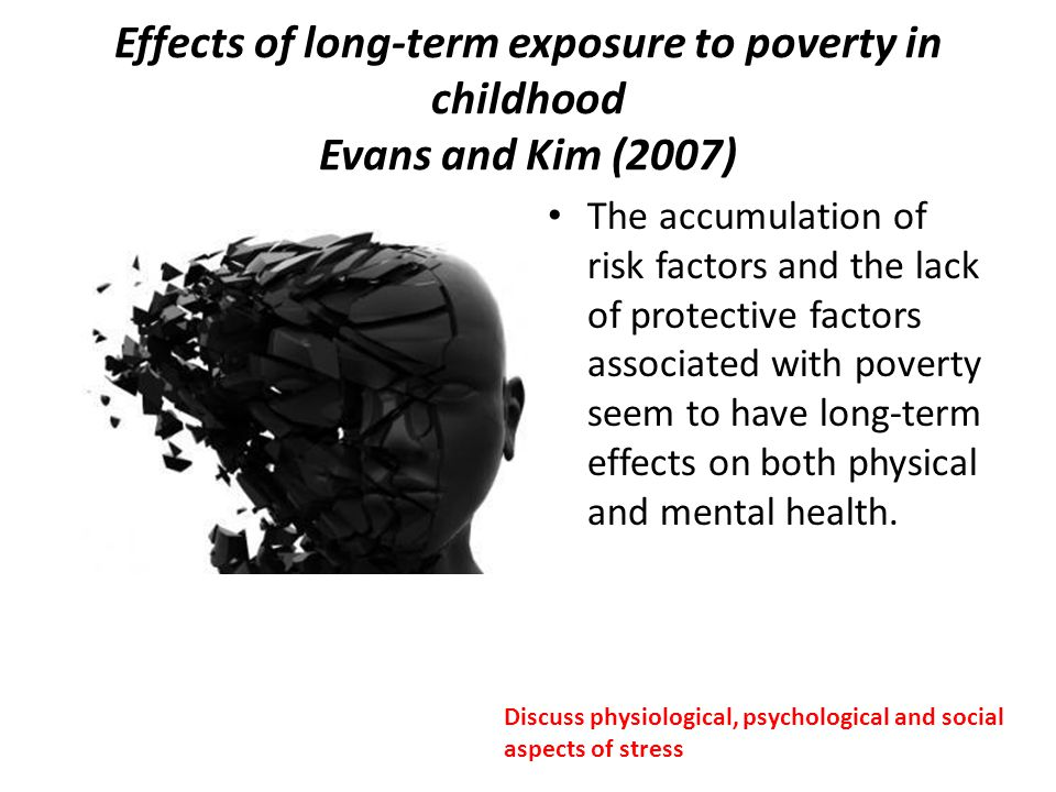 Effects of long-term exposure to poverty in childhood Evans and Kim (2007)