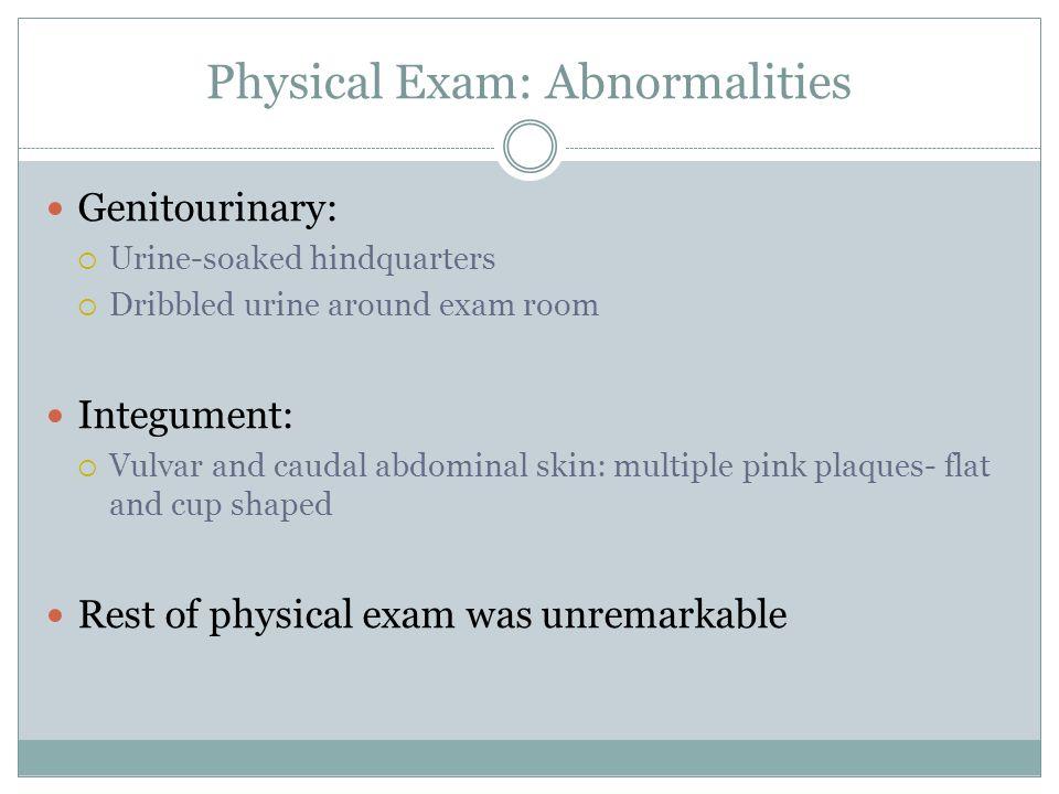 Physical Exam: Abnormalities