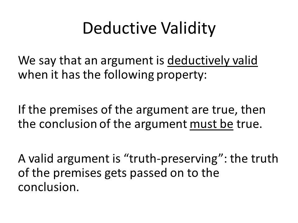 Deductive Validity