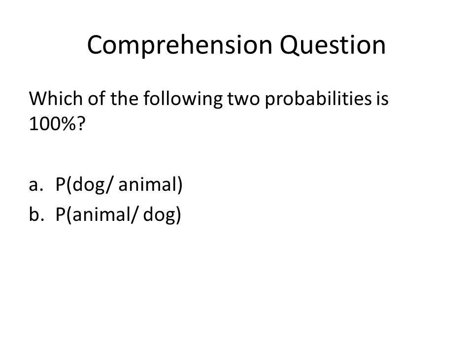 Comprehension Question