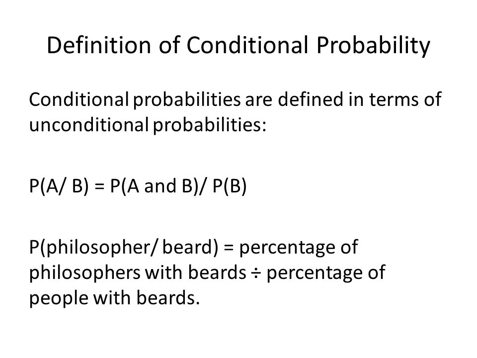 Definition of Conditional Probability