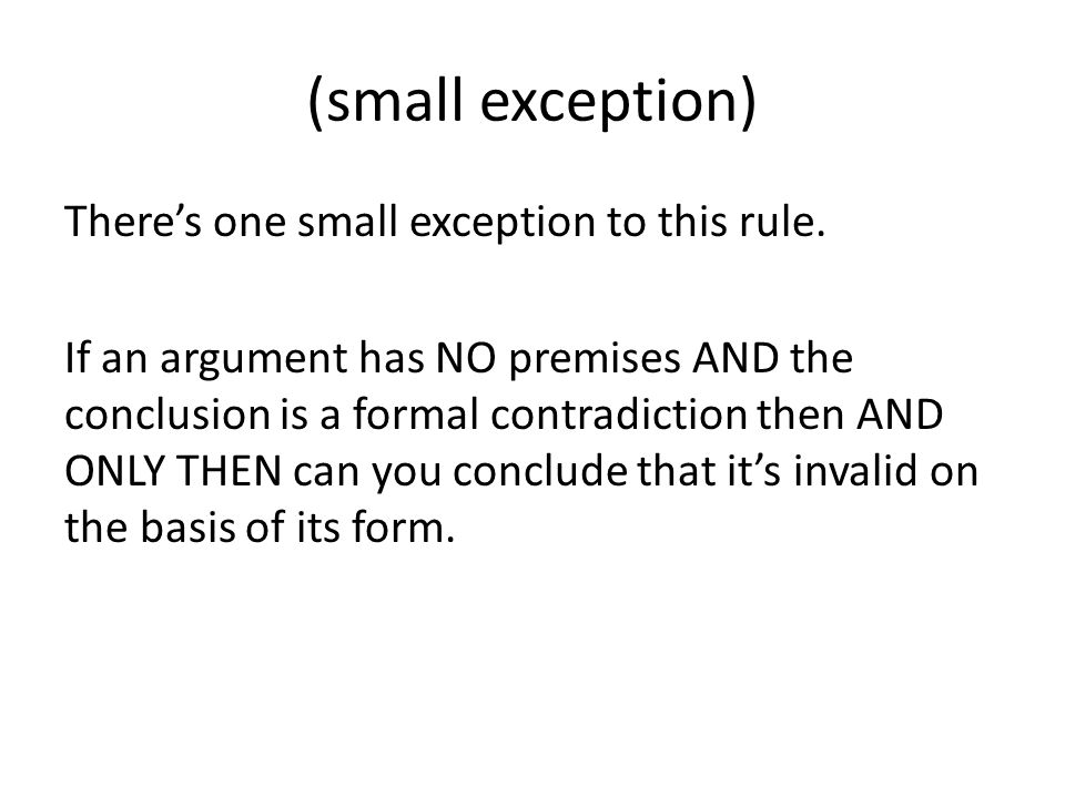 (small exception)