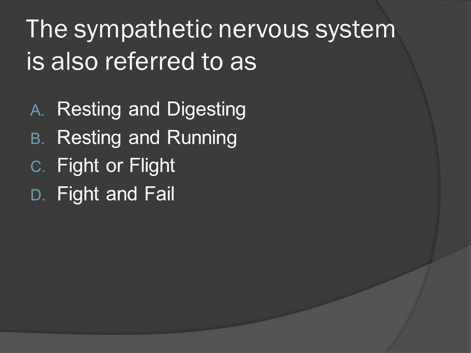 The sympathetic nervous system is also referred to as
