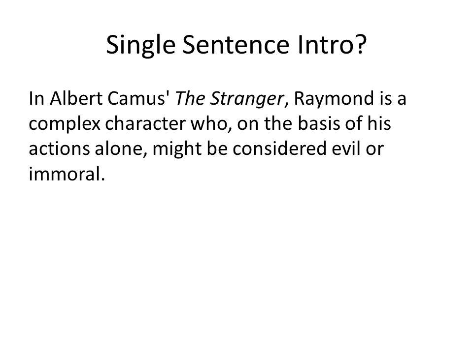 Single Sentence Intro