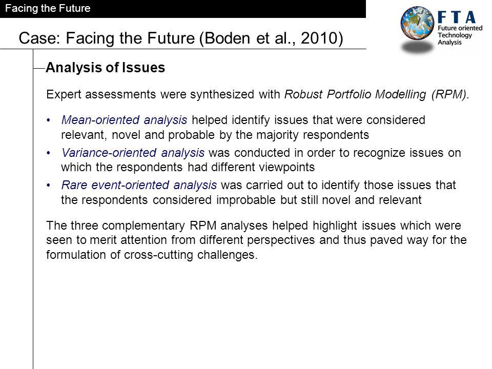 Case: Facing the Future (Boden et al., 2010)
