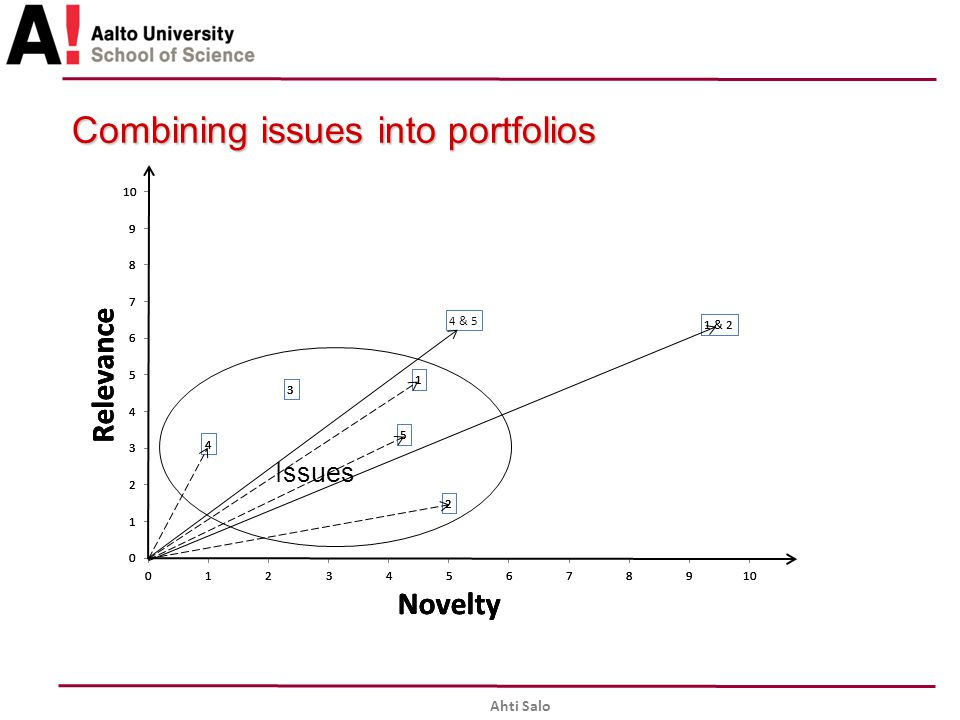 Combining issues into portfolios