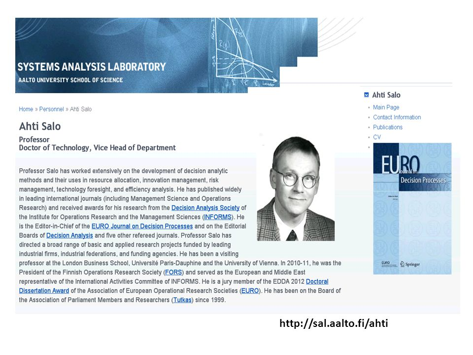 Homepage http://sal.aalto.fi/ahti