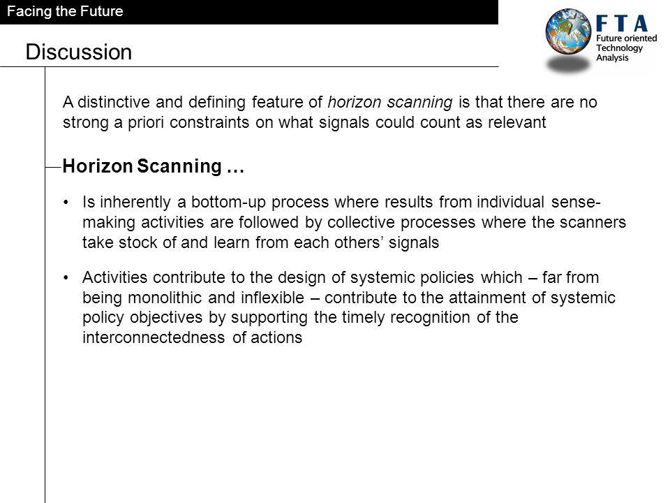 Discussion Horizon Scanning …