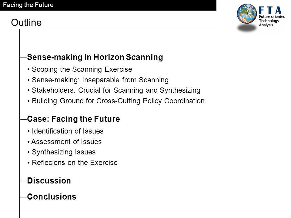 Outline Sense-making in Horizon Scanning Case: Facing the Future