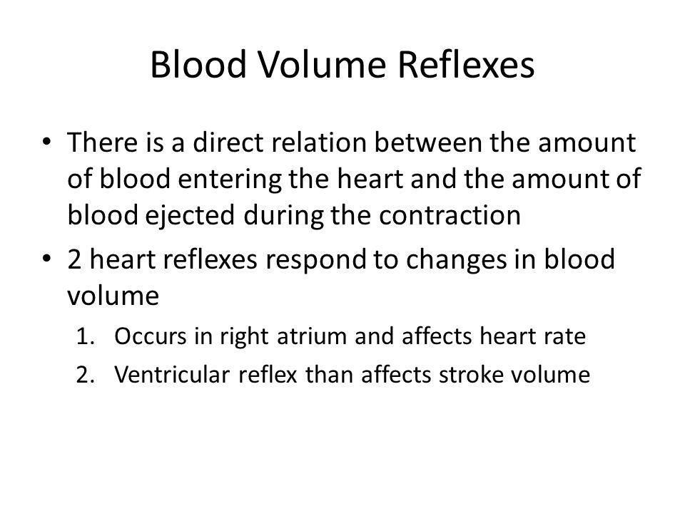 Blood Volume Reflexes