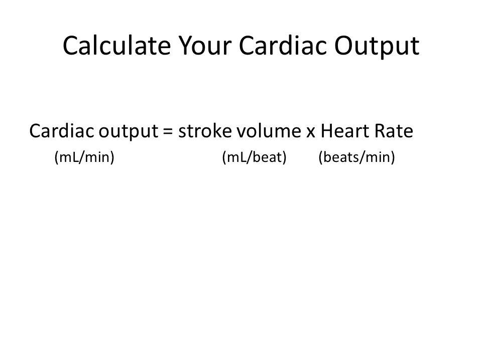 Calculate Your Cardiac Output
