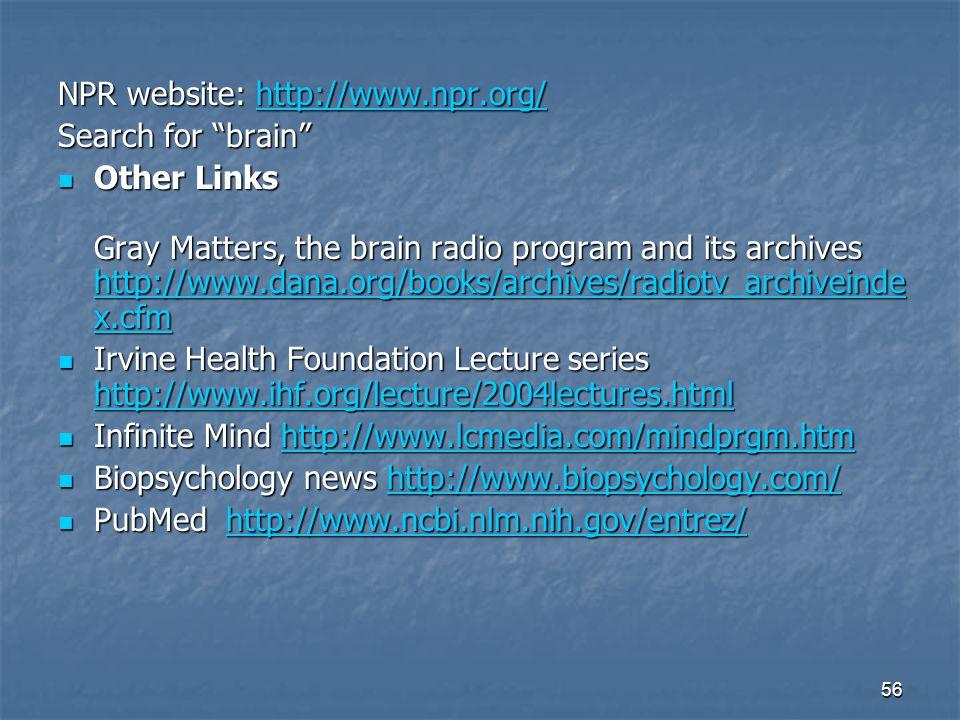 NPR website: http://www.npr.org/