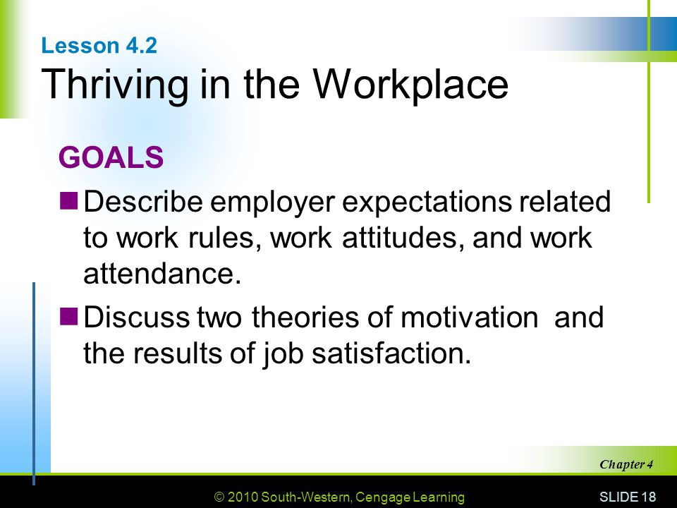 Lesson 4.2 Thriving in the Workplace