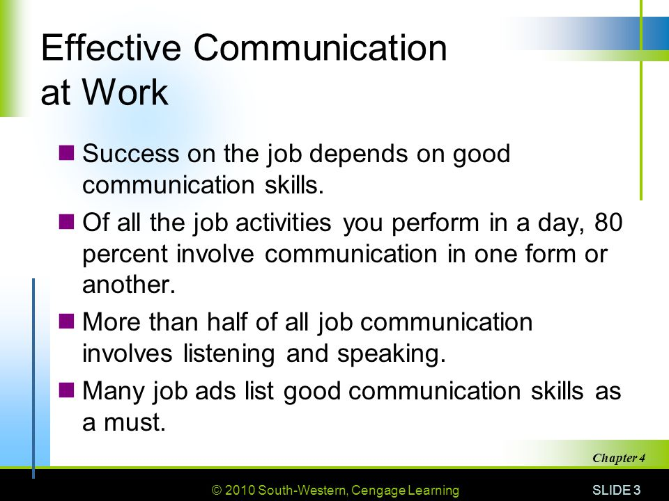 effective communication in workplace According to wikipedia, effective workplace communication is the process of exchanging information, either verbal or nonverbal, within an organization since we spend more time in the workplace than we spend with our loved ones on a daily basis, trying to like your colleagues and work well with them is an important part of your day-to-day work.