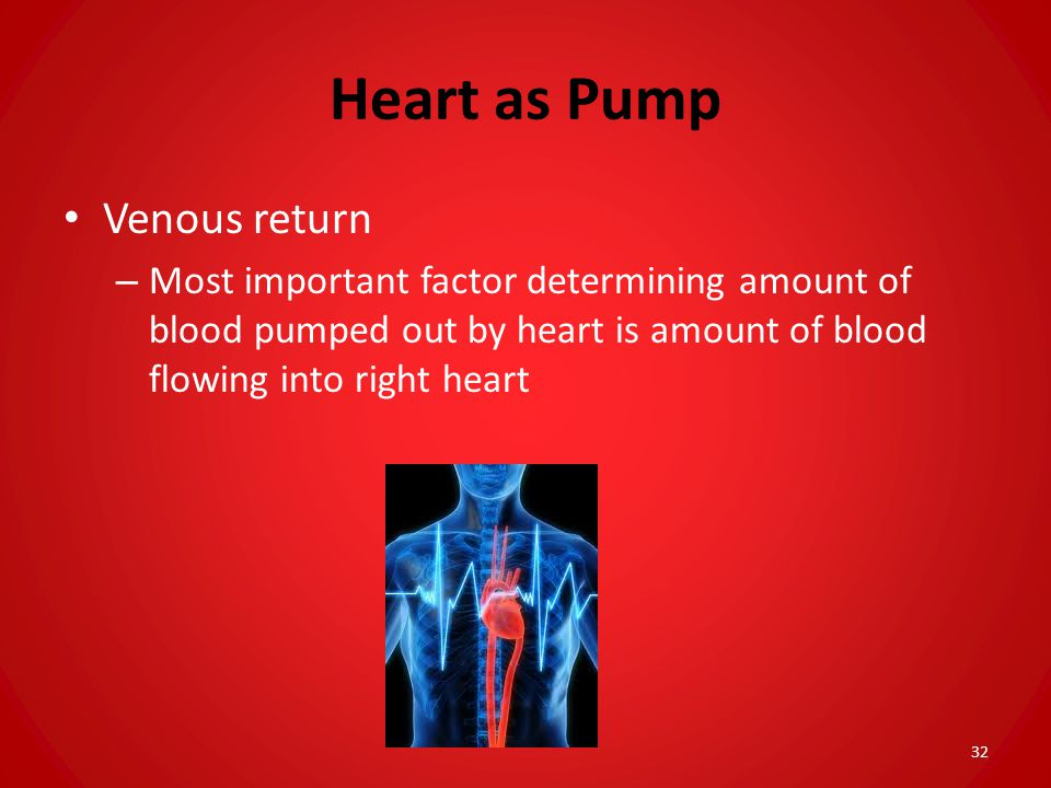 Heart as Pump Venous return
