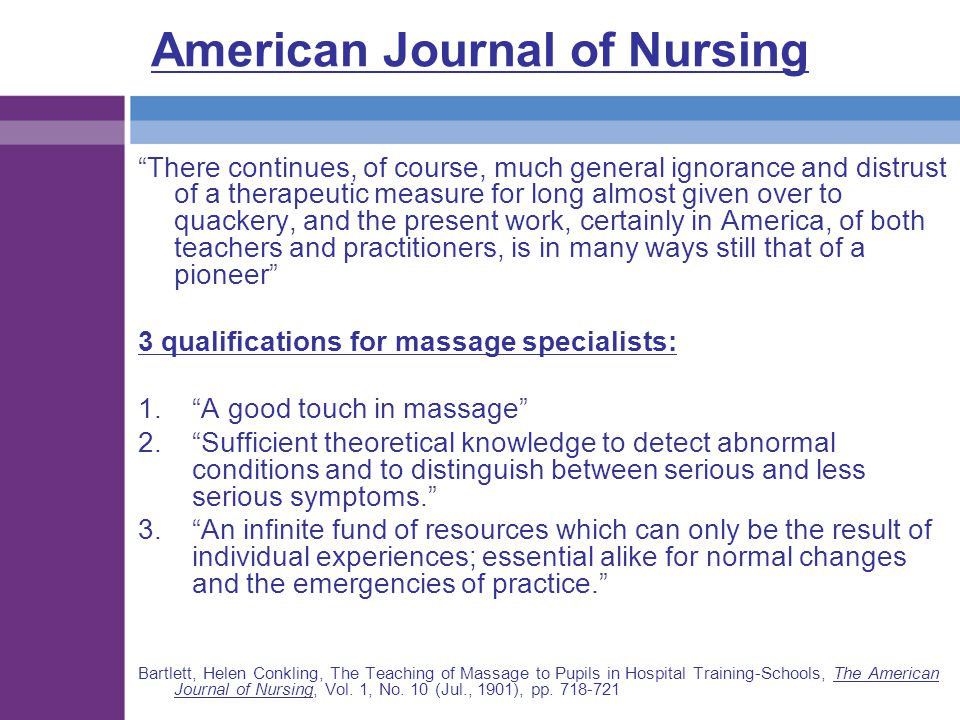 American Journal of Nursing