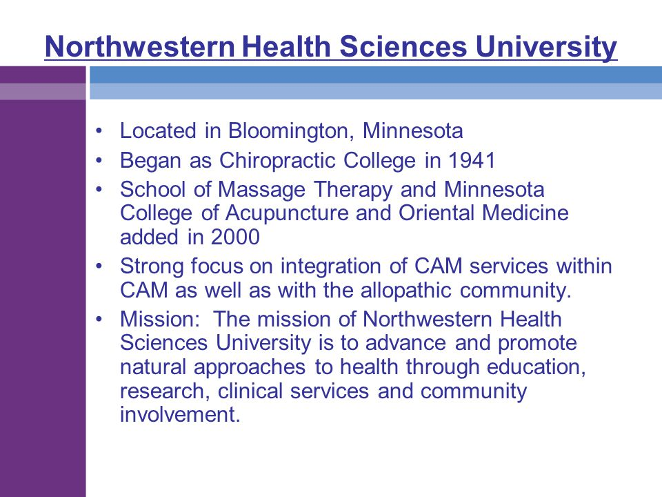 Northwestern Health Sciences University