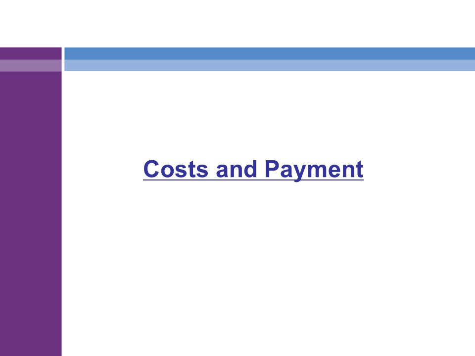 Costs and Payment